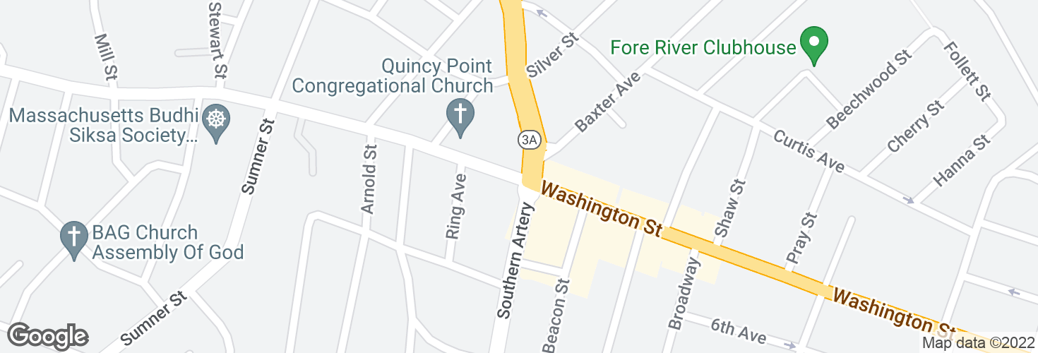 Map of Washington St @ Southern Artery and surrounding area