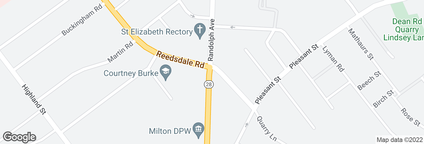 Map of Randolph Ave @ Reedsdale Rd and surrounding area