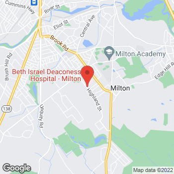 Map of Edward Reardon, MD at 100 Highland Avenue, Milton, MA 02186