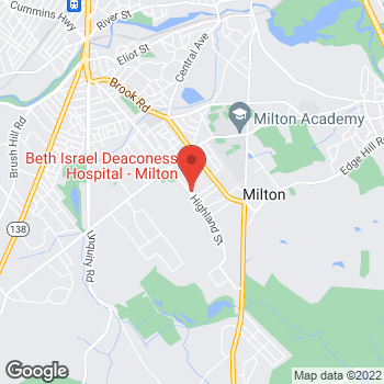 Map of Thomas Fitzgerald, MD at 100 Highland Street, Milton, MA 02186
