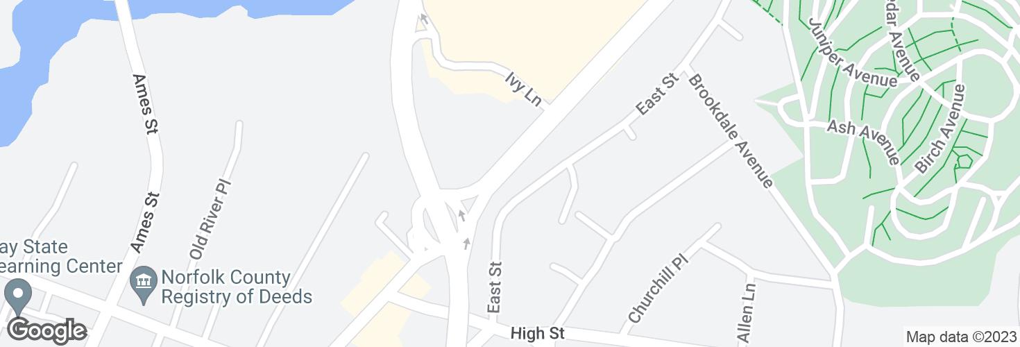 Map of 272 Washington St and surrounding area