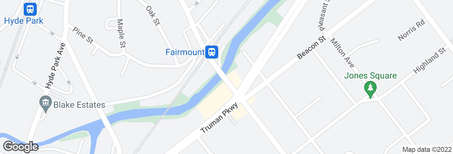 Map of Fairmount Ave @ Truman Hwy and surrounding area