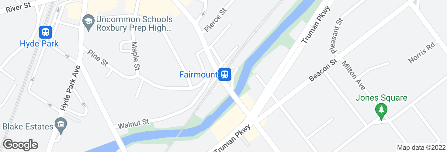 Map of Fairmount and surrounding area