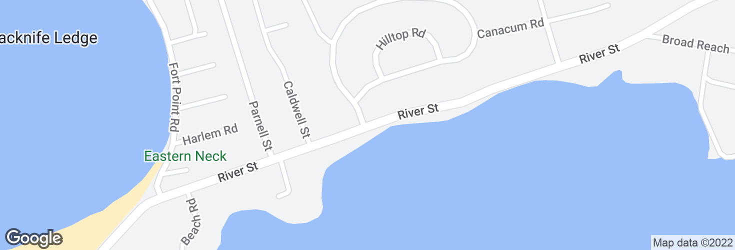 Map of River St @ Prospect Hill Dr and surrounding area