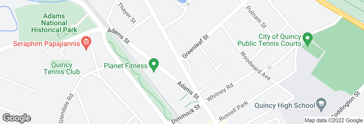 Map of Hancock St @ Greenleaf St and surrounding area