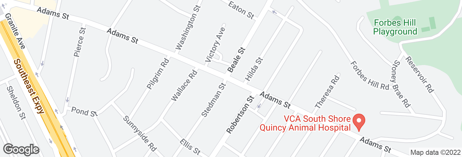 Map of Adams St @ Beale St and surrounding area