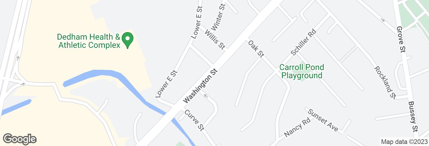 Map of 38 Washington St opp Sumner St and surrounding area