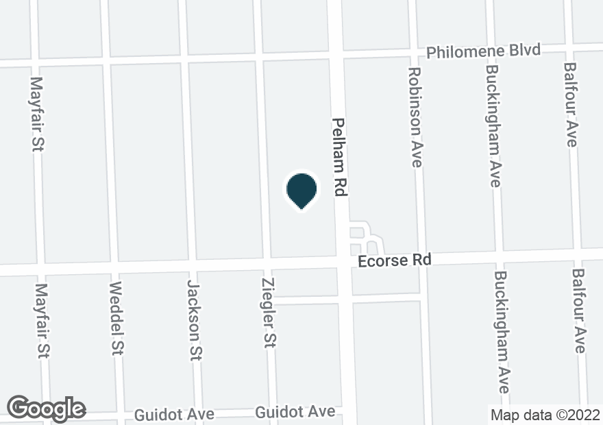 Google Map of20030 ECORSE RD