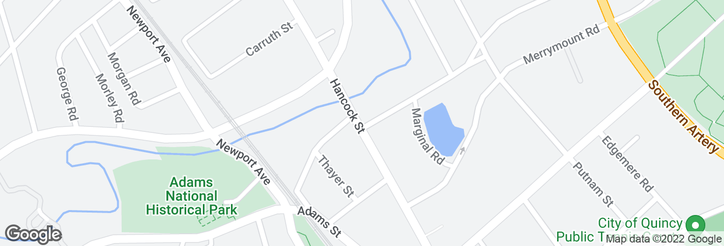 Map of Hancock St @ Butler Rd and surrounding area