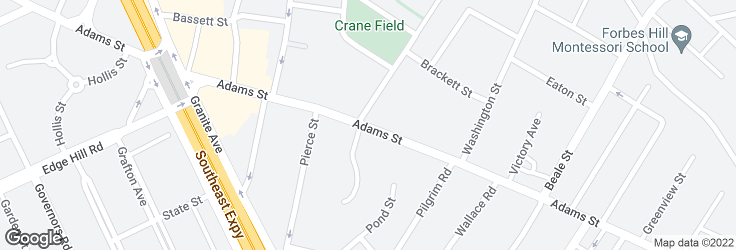 Map of Adams St @ Granite Pl and surrounding area