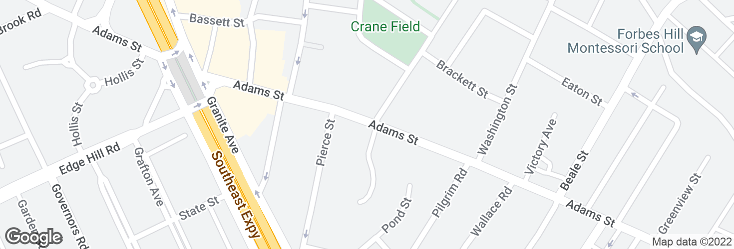 Map of Adams St @ Foster Ln and surrounding area