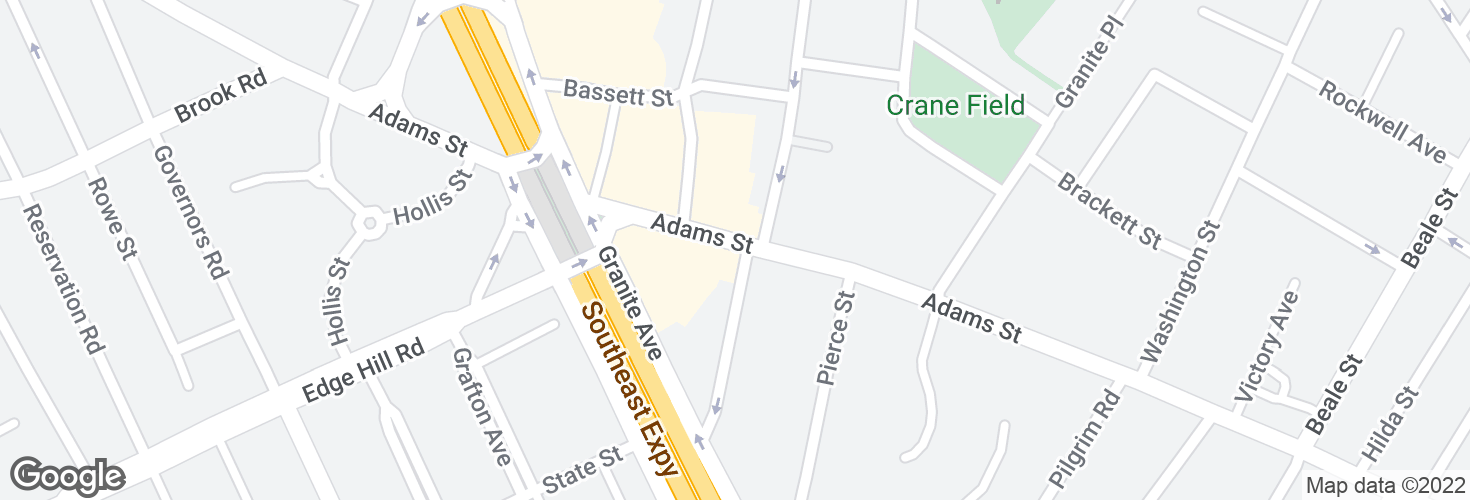 Map of Adams St @ Mechanic St and surrounding area