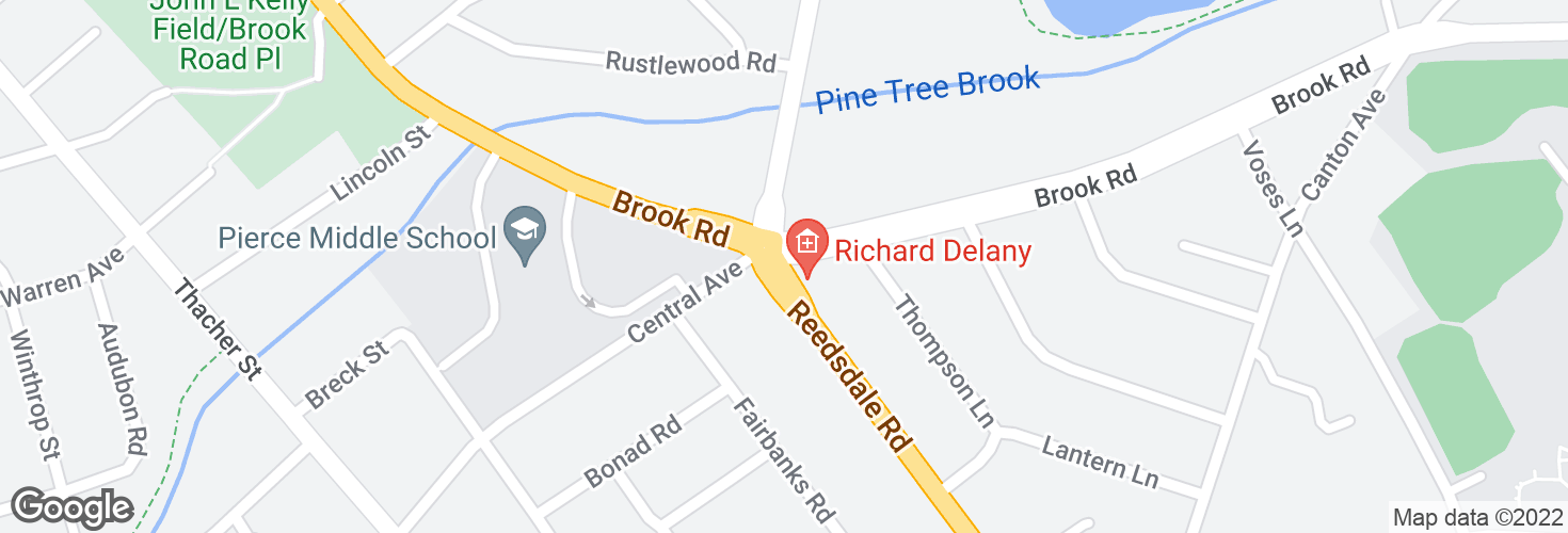 Map of Reedsdale Rd @ Brook Rd and surrounding area