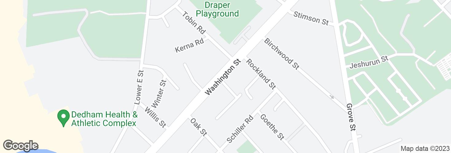Map of Washington St @ Meshaka St and surrounding area