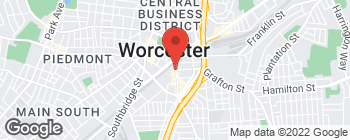 Map of 59 Green St in Worcester