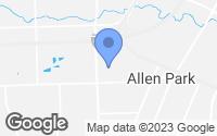 Map of Allen Park, MI