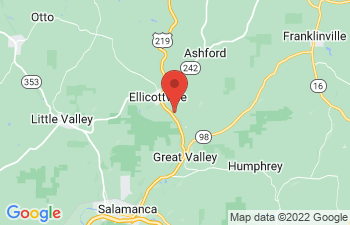 Map of Holiday Valley and Holimont Ski Area