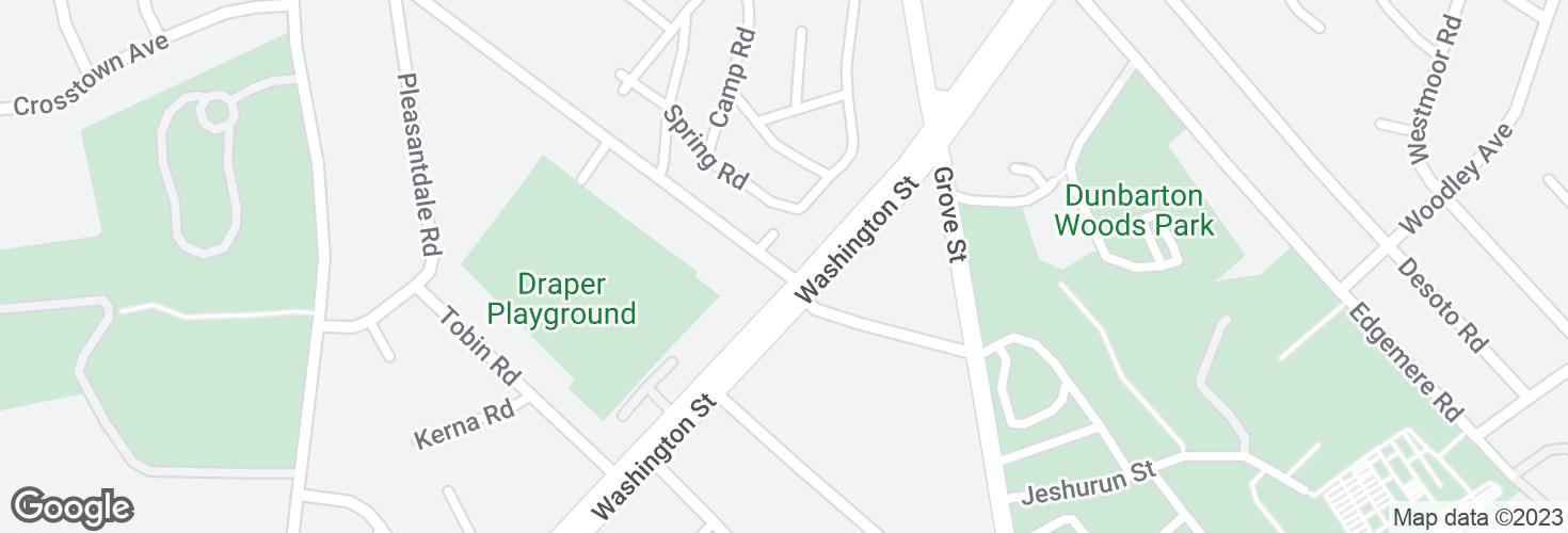 Map of Stimson St @ Washington St and surrounding area