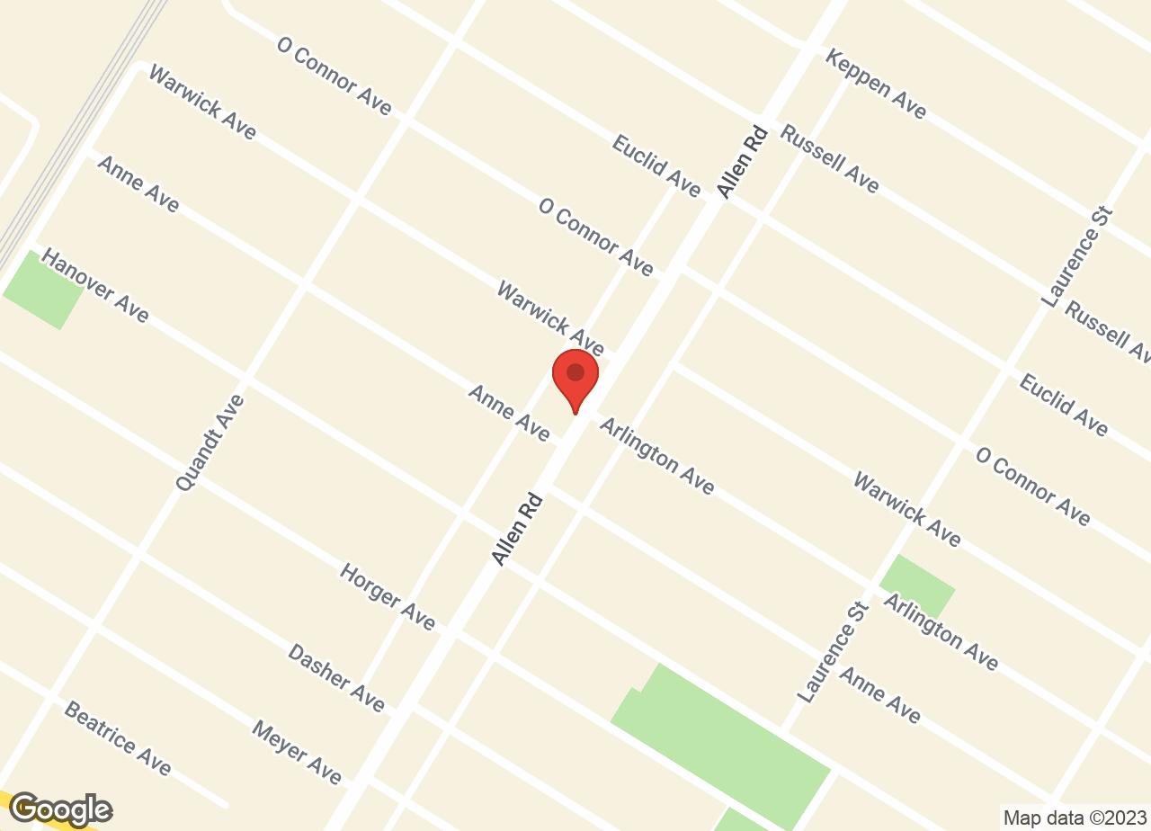 Google Map of VCA Allen Park Animal Hospital