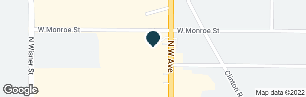 Google Map of1314 N WEST AVE