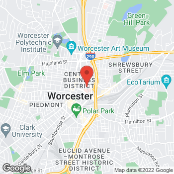 Map of Annie Chemmanur, MD at 123 Summer Street, Worcester, MA 01608