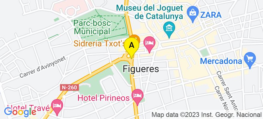 situacion en el mapa de . Direccion: C/ Sant Llàtzer, 32 local 19, 17600 Figueres. Girona