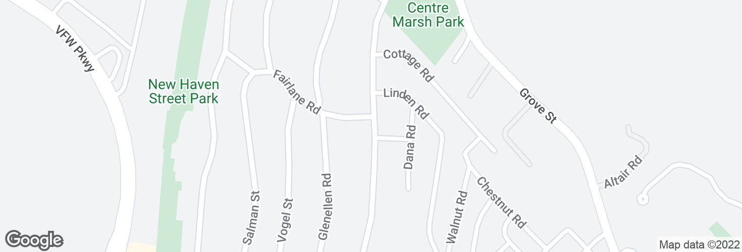 Map of Centre St @ Fairlane Rd and surrounding area