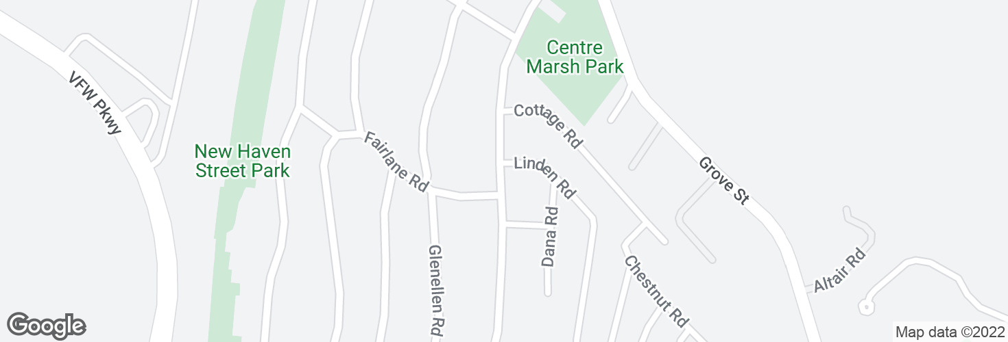 Map of Centre St @ Linden Rd and surrounding area