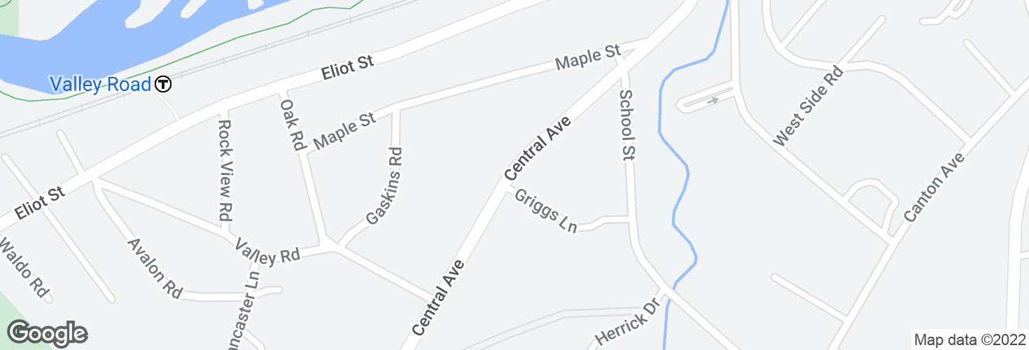 Map of Central Ave @ Griggs Ln and surrounding area