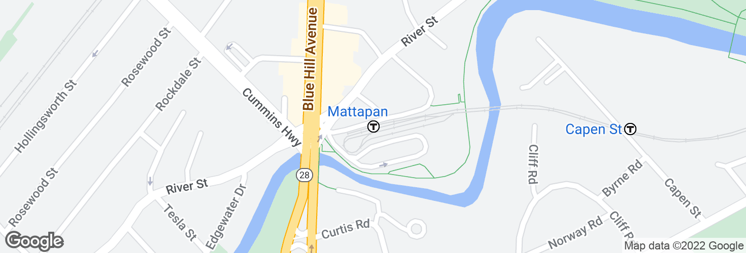 Map of Mattapan and surrounding area