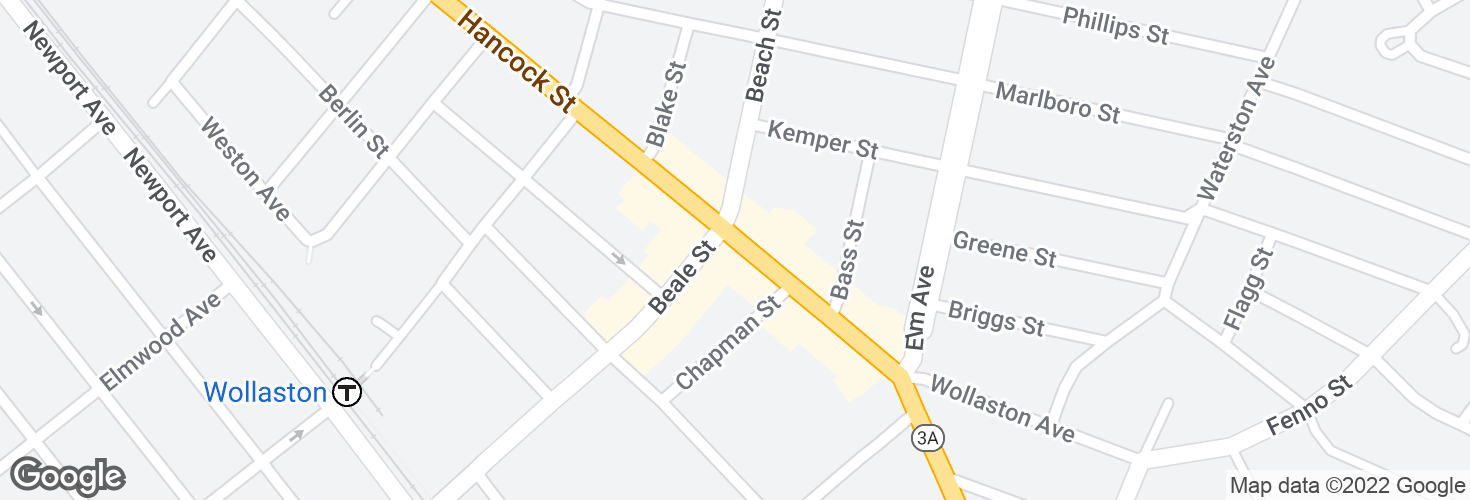 Map of Hancock St @ Beale St and surrounding area
