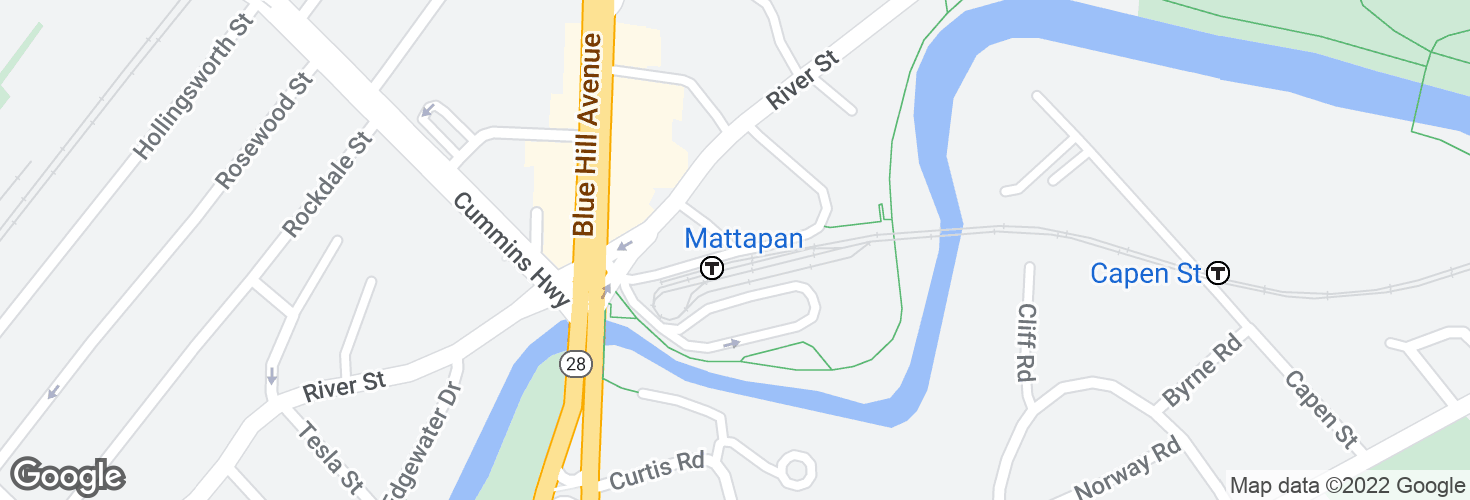 Map of Mattapan and surrounding area