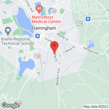 Map of Carquest Auto Parts at 41 Loring Drive, Framingham, MA 01702