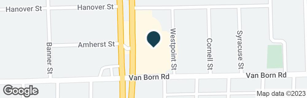 Google Map of5709 S TELEGRAPH RD