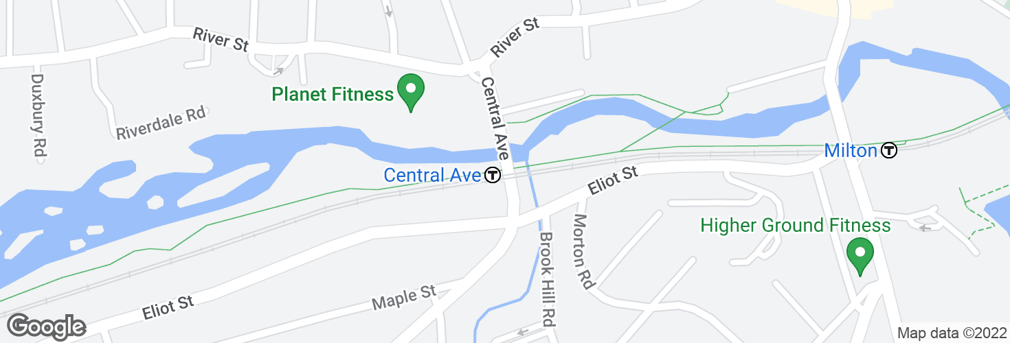 Map of Central Ave @ Central Ave Station and surrounding area