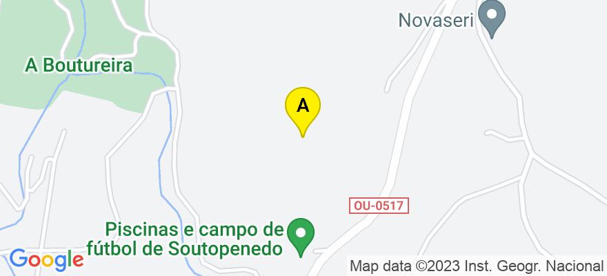 situacion en el mapa de . Direccion: Estrada a Celanova. Pińeiral, 36 bajo, 32005 San Cibrao das Viñas. Ourense