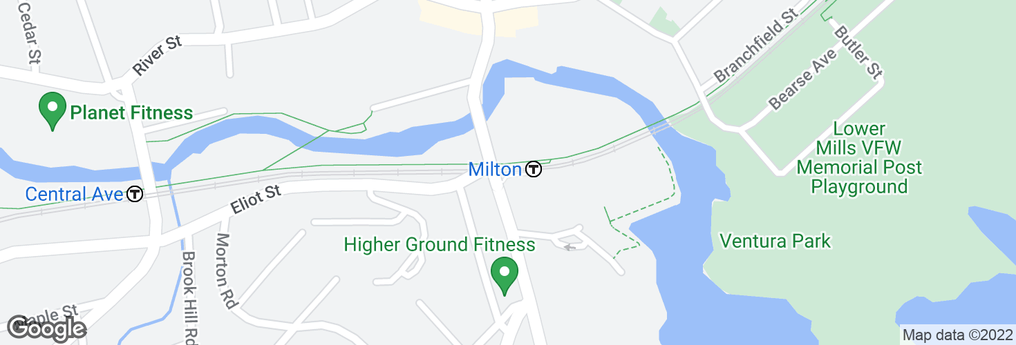 Map of Milton and surrounding area