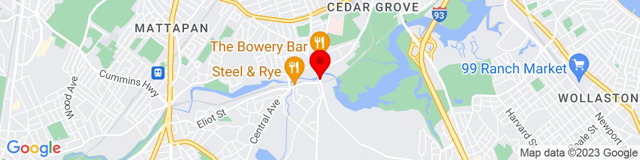 Google Map of 42.2705511, -71.0679566