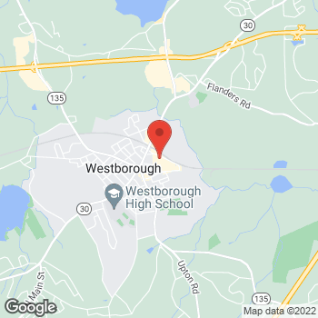 Map of Panera Bread at 600 Union Street, Westborough, MA 01581