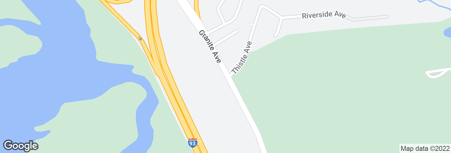 Map of Granite Ave opp Thistle Ave and surrounding area