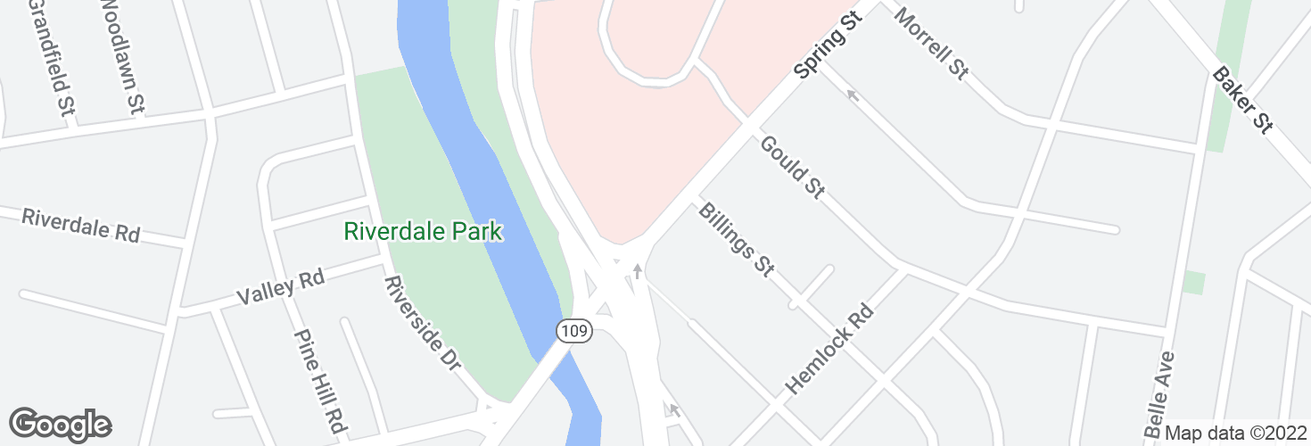 Map of Spring Street opp Charles River Loop and surrounding area