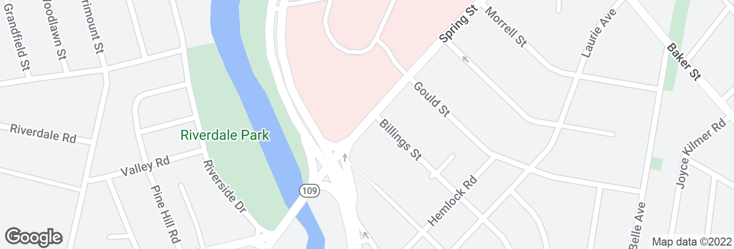 Map of Spring St @ Charles River Loop and surrounding area
