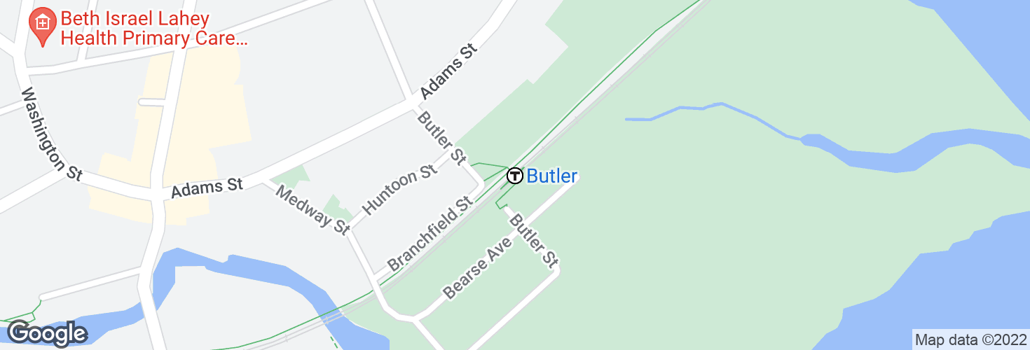 Map of Butler and surrounding area