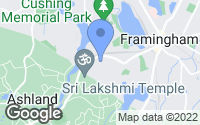 Map of Framingham, MA