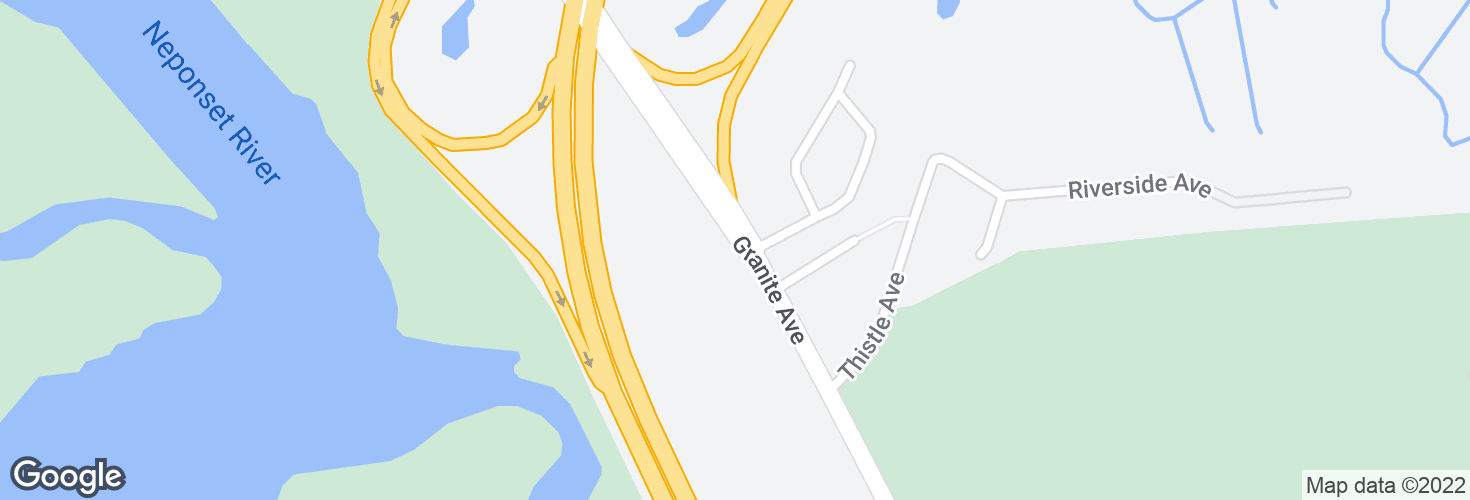 Map of Granite Ave opp Courtland Circle and surrounding area