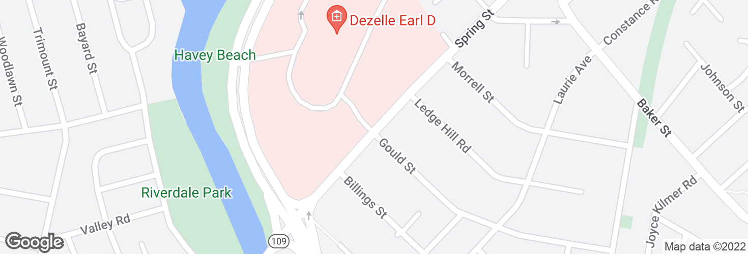 Map of Spring St @ VA Hospital and surrounding area