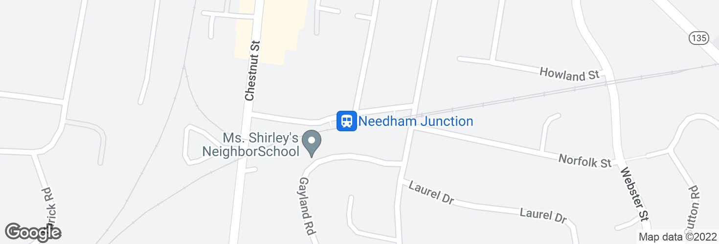 Map of Needham Junction and surrounding area