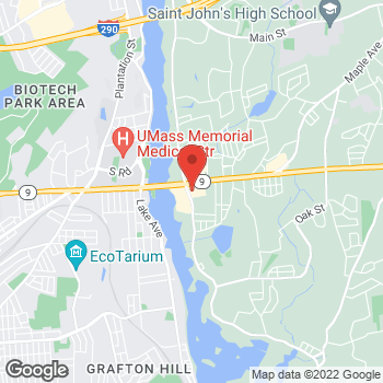 Map of Taco Bell at 21 S Quinsigamond Ave, Shrewsbury, MA 01545