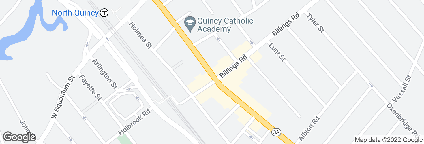 Map of Hancock St @ Billings Rd and surrounding area