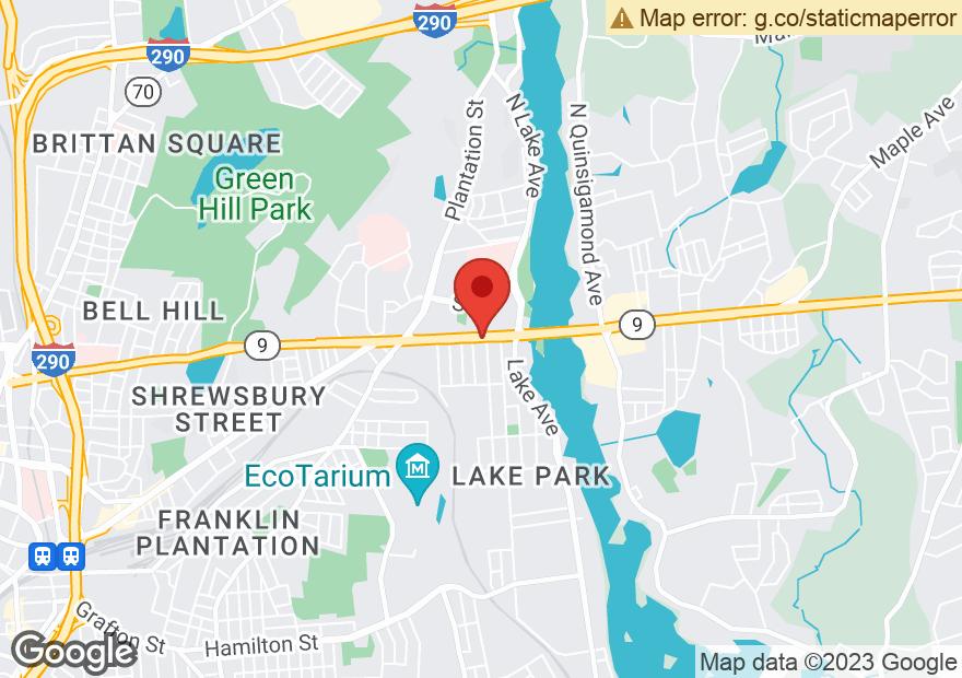 Google Map of 398 BELMONT ST